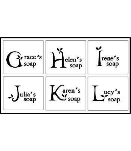 Custom made G to L alphabet stamp