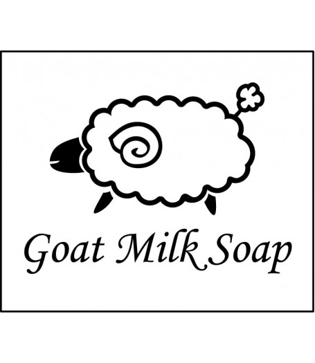 Goat milk soap stamp