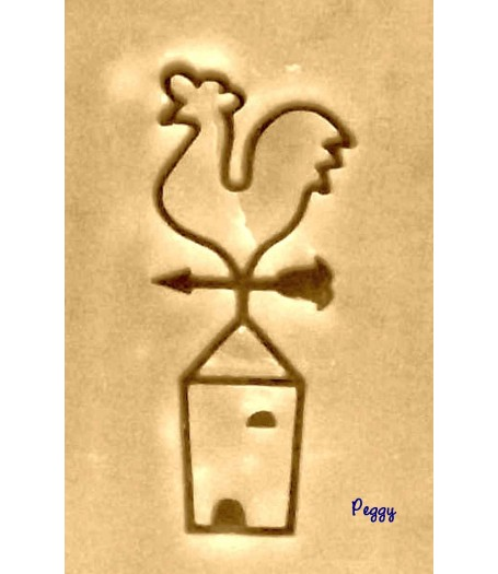 Cock soap stamp